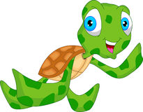 Cute sea turtle cartoon Royalty Free Stock Image