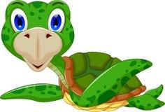 Cute sea turtle cartoon. Illustration of cute sea turtle cartoon Stock Photography