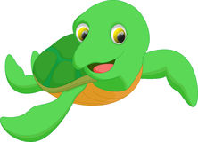 Cute sea turtle cartoon Stock Image