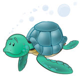 Cute Sea Turtle Character. Royalty Free Stock Photo
