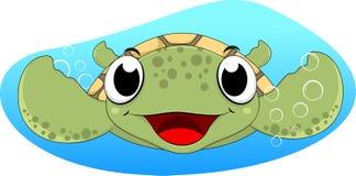 Cute Sea Turtle Swimming Stock Photography