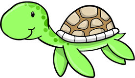 Cute Sea turtle Vector Royalty Free Stock Photography