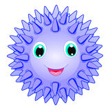 Cute sea urchin vector Smiling spiky animal cartoon character isolated on white background Ocean animal, funny sea life theme crea. Cute sea urchin vector Stock Photography