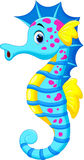 Cute seahorse cartoon Stock Photography