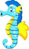 Cute seahorse cartoon Stock Photo