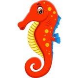 Cute seahorse cartoon Royalty Free Stock Photo