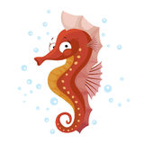 Cute seahorse isolated T-Shirt design for children Royalty Free Stock Image