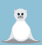 Cute Seal cartoon with large eyes. Seal cartoon with large eyes Royalty Free Stock Image