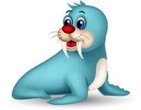 Cute seal cartoon posing Stock Image