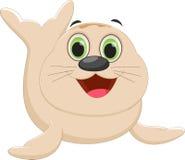 Cute Seal cartoon Stock Photography