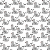 Cute seal pattern background Stock Photos