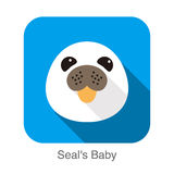 Cute seal's baby flat icon design, vector illustration. Cute seal's baby flat icon design  vector illustration Stock Photography