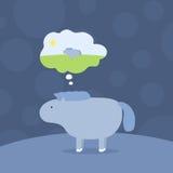 Cute seals cartoon  illustration Royalty Free Stock Images
