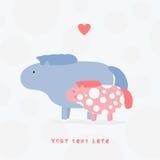 Cute seals cartoon  illustration Royalty Free Stock Image