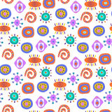 Cute seamless abstract pattern with ethnic elements. Cute seamless abstract pattern with a ethnic elements Royalty Free Illustration