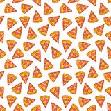 Seamless pizza slices Royalty Free Stock Image