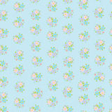 Cute seamless background with flowers Stock Image