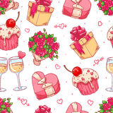 Cute seamless background for Valentine's Day Stock Photography