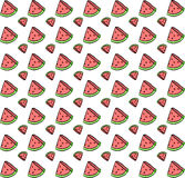 Cute seamless background with watermelon slices. beautiful vector illustration Stock Photography