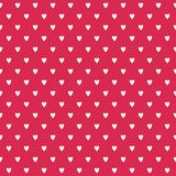 Cute seamless background white hearts on red. Cute seamless vector background with white hand cut love hearts on red. Light grunge overlay on a separate layer Stock Images