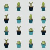 Cute seamless cactus pattern Royalty Free Stock Photography