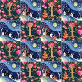 Cute seamless childish patchwork pattern. Stock Image