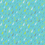Cute seamless childish texture with colored rains. Royalty Free Stock Images