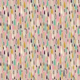 Cute seamless childish texture. Endless ornamental pattern with colored rain on a pastel  background. Stock Image