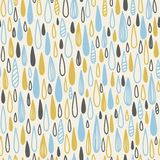 Cute seamless childish texture. Endless ornamental pattern with colored rain on a white background. Royalty Free Stock Image