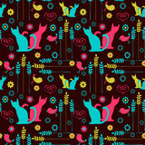 Cute seamless colorful pattern Royalty Free Stock Photos