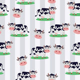 Cute Seamless Cow Background. Cute seamless background with cow pattern Vector Illustration
