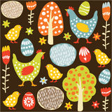 Cute seamless easter spring  pattern Stock Photos