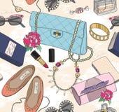 Cute Seamless Fashion Pattern Stock Photos