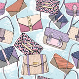 Cute seamless fashion pattern royalty free illustration