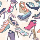 Cute seamless fashion pattern for girls or woman royalty free illustration