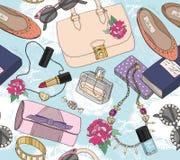 Cute Seamless Fashion Seamless Pattern Royalty Free Stock Image
