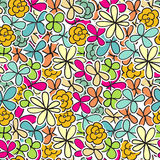 Cute seamless floral pattern background Stock Photography