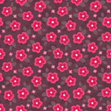 Cute seamless floral pattern in pink and red Royalty Free Stock Photo