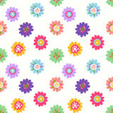 Cute seamless flower pattern Stock Images