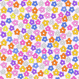 Cute seamless flowers background  Royalty Free Stock Photography