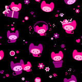 Cute seamless kitten background Royalty Free Stock Images