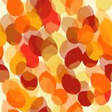 Cute seamless leaf autumn pattern in vector Royalty Free Stock Images
