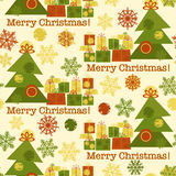 Cute seamless new year pattern with Christmas tree Royalty Free Stock Image