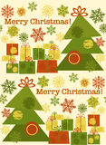Cute seamless new year pattern with Christmas tree Stock Images