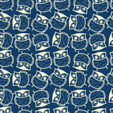 Cute seamless owl background pattern Stock Image