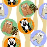 Cute seamless pattern with animals Royalty Free Stock Photography