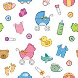 A Cute Seamless Pattern baby toddler themee royalty free illustration