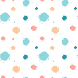 Cute seamless pattern background illustration with ink blots Royalty Free Stock Images