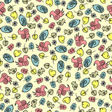 Cute seamless pattern with birds Royalty Free Stock Images