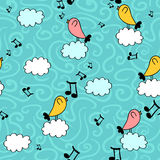 Cute seamless pattern with birds Royalty Free Stock Photos